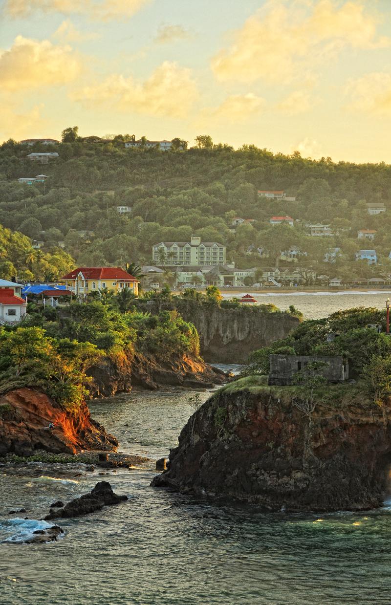 St. Lucia coastline
