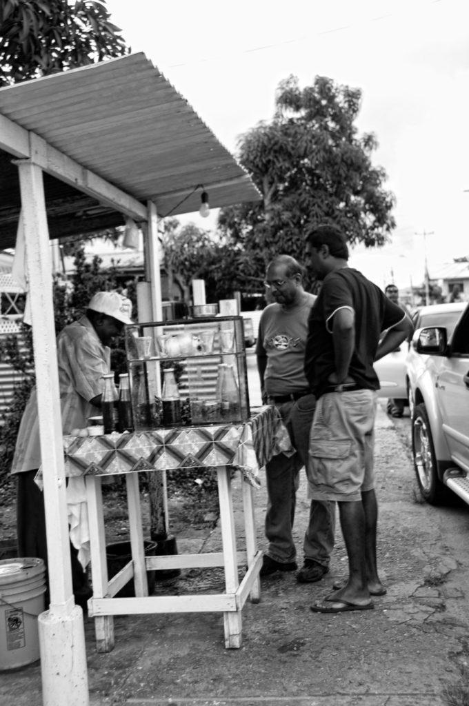 Trinidad street food oyster man